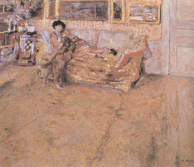 Edouard Vuillard Howe Chancellor and her dog